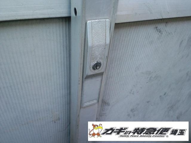 鍵交換(草加市で倉庫の引き戸錠の鍵交換)