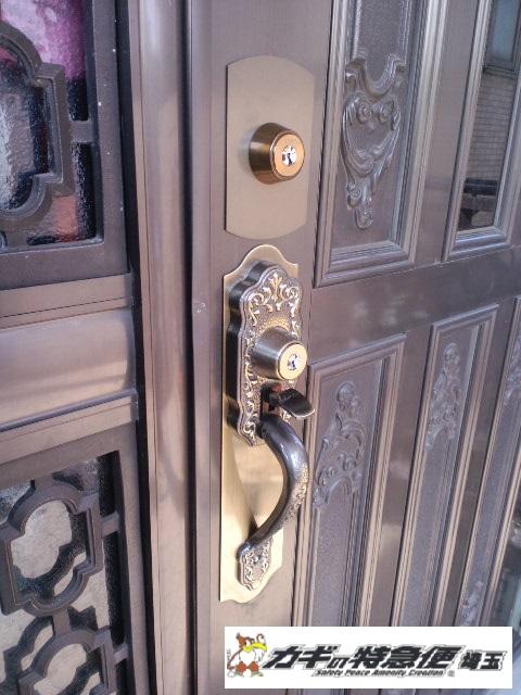 鍵交換(SHOWA GIKEN CTM 装飾錠の鍵交換 さいたま市)
