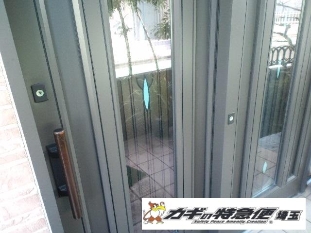 鍵交換(さいたま市トステムの引き戸鍵交換|鍵が開かない!)