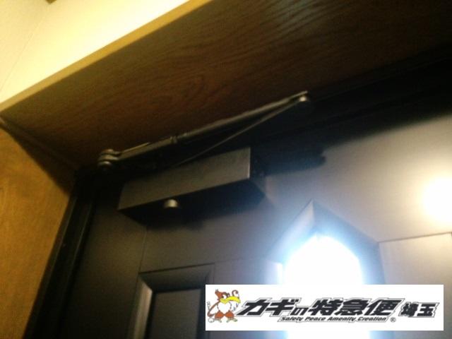 ドアクローザーの交換修理(さいたま市で美和ロックのドアクローザー交換|特殊商品)
