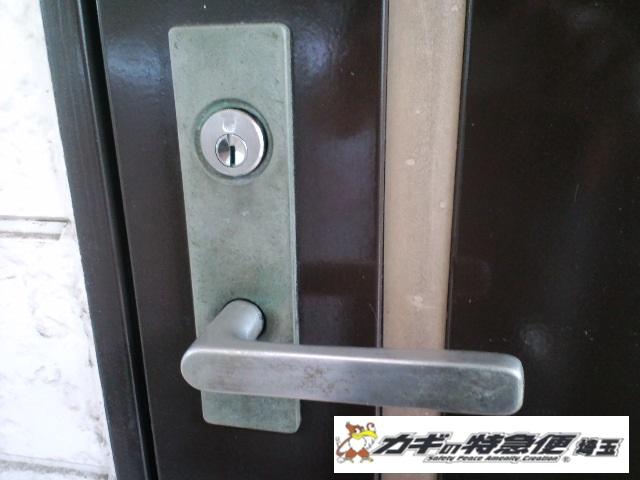 鍵交換(蕨市で防犯性の高い鍵に交換|賃貸アパート)