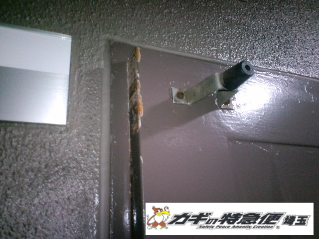 鍵の修理・調整(扉が閉まらない!埼玉県川口市で扉の建付け修理)