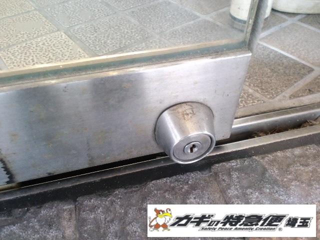 鍵交換(自動ドアの鍵交換はお任せ下さい!草加市での事例・美和ロック)