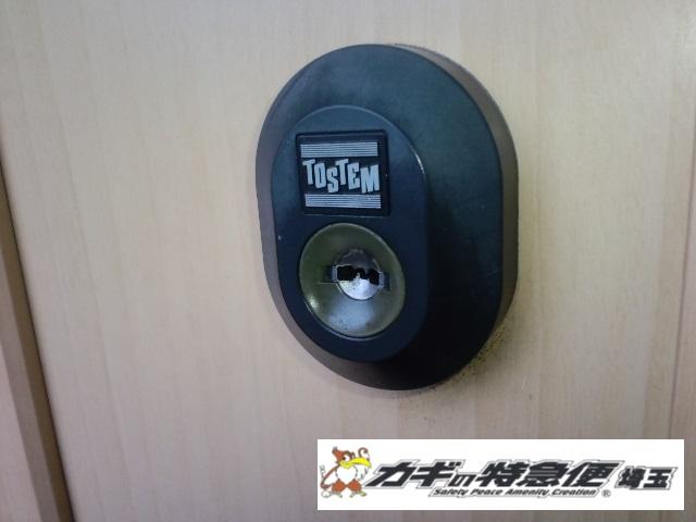 鍵交換(鍵に油はNGです!戸田市でリクシル(トステム)の鍵交換)