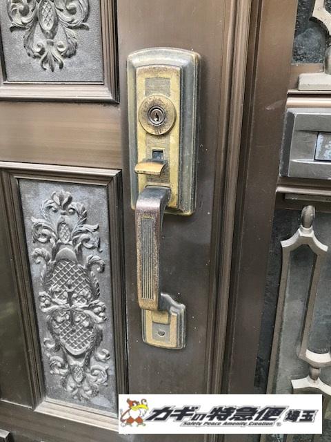 鍵交換(GOAL社のサムラッチ・装飾錠の交換工事!埼玉県志木市)