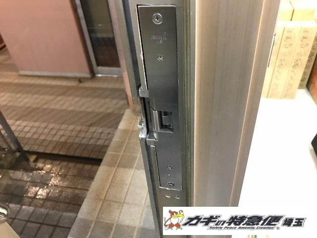 電気錠システムの修理・交換(会社事務所のオートロック電気錠が閉まらない!中野区で夜間工事!MIWA AS)