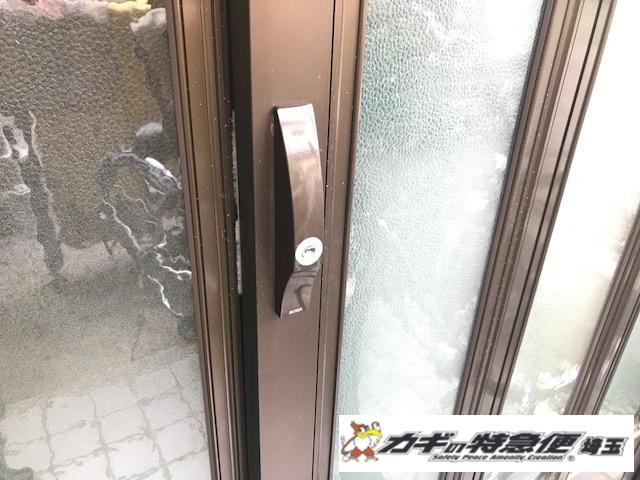 鍵交換(鍵交換は即日対応できます!鍵をなくした!埼玉県草加市:古い引き戸の鍵交換)