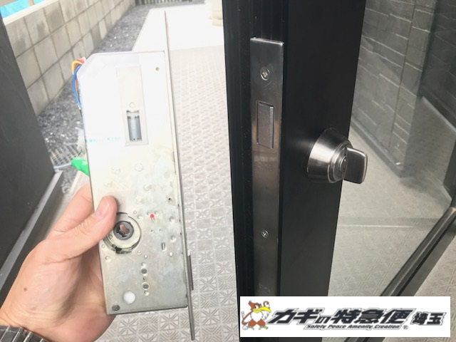 オートロックマンションの鍵修理(オートロックが動かない!埼玉県上尾市で電気錠修理!MIWA ALM)