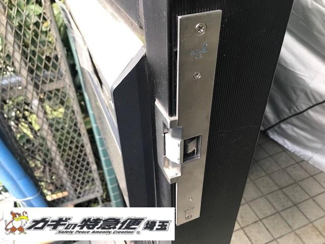 電気錠システムの修理・交換(電気錠がテンキーで開かない!東京都大田区で電気錠修理/MIWA AS アイホン EL-PFP )