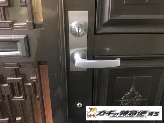 鍵交換(★SHOWA CSM 装飾錠の交換修理:東京都杉並区:サムラッチ錠をカバスタープラスへ)