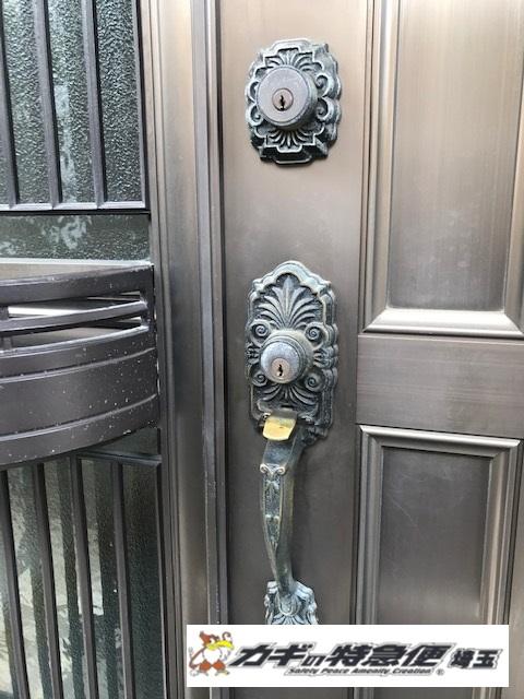鍵交換(★OBEL装飾錠をディンプルキー仕様に鍵交換:埼玉県さいたま市)
