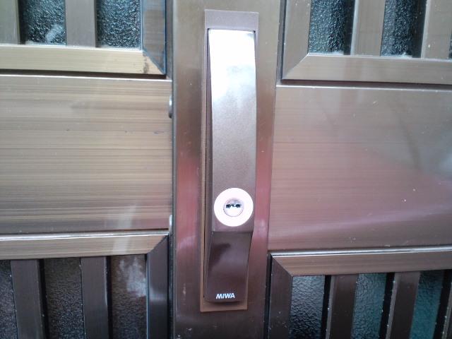 鍵交換(埼玉県川口市にて~玄関引き戸の鍵交換、鍵修理もお任せください!)