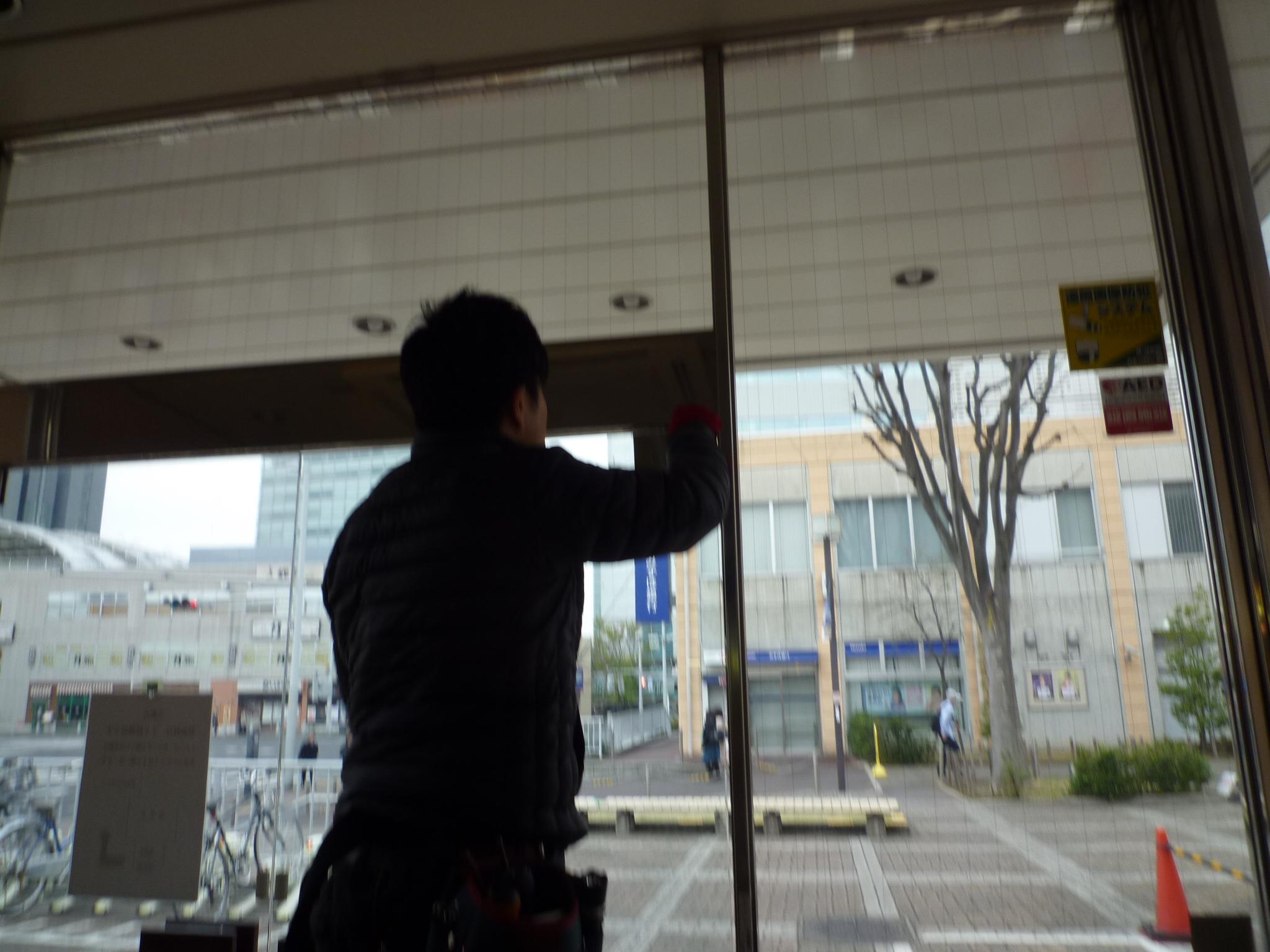 鍵交換(ガラスドアの鍵交換 埼玉県さいたま市)