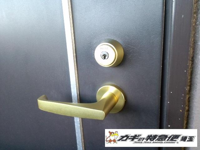 鍵交換(埼玉県川口市で鍵交換 ショーワMLAから美和ロックへ一式交換)
