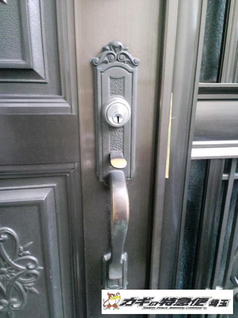 鍵交換(上尾市で鍵交換・修理(装飾錠・サムラッチ錠)SHOWA GIKEN)