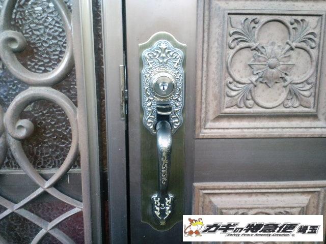 鍵交換(蓮田市で装飾錠の鍵交換・修理 サムラッチ錠 WESTから美和ロックへ)