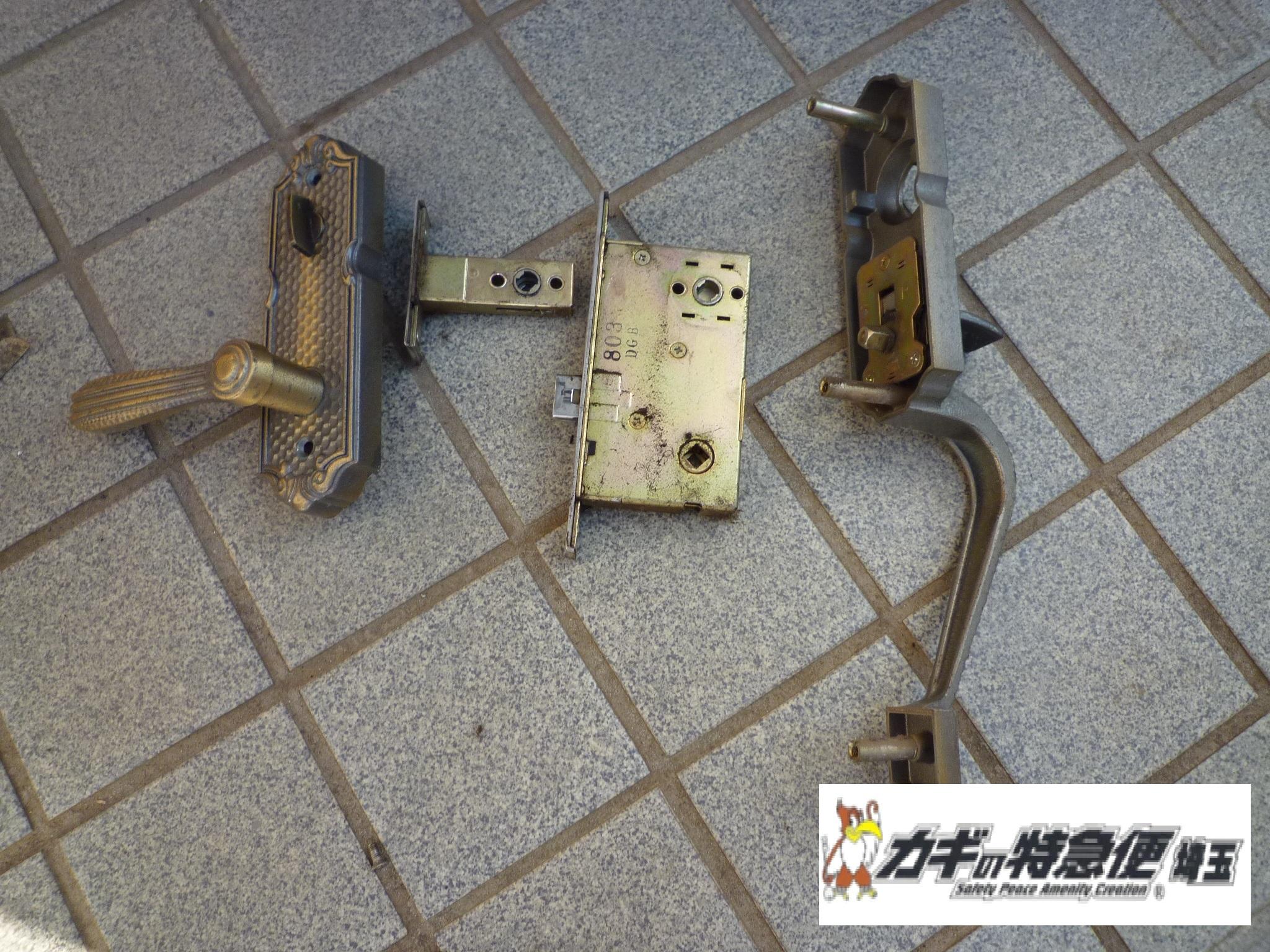 鍵交換(和光市で鍵交換と鍵修理(トーヨーサッシ)美和ロック カバ)